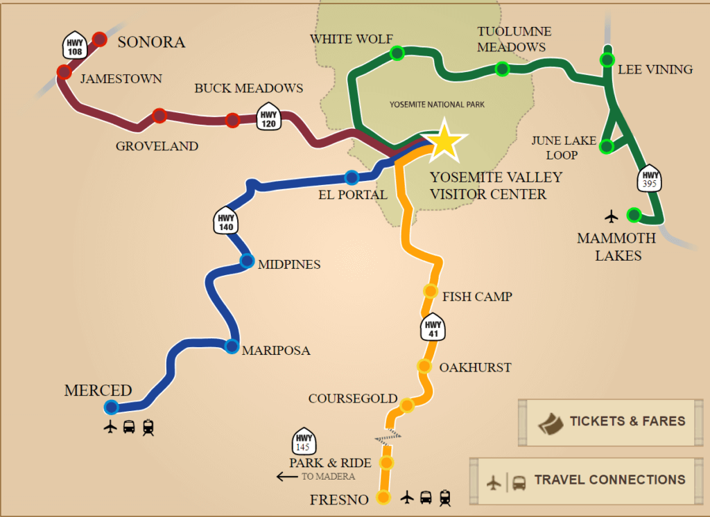 Yosemite Transportation and YARTS Discover Yosemite National Park