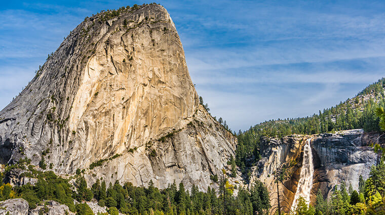 Nevada Fall and Liberty Cap at Yosemite