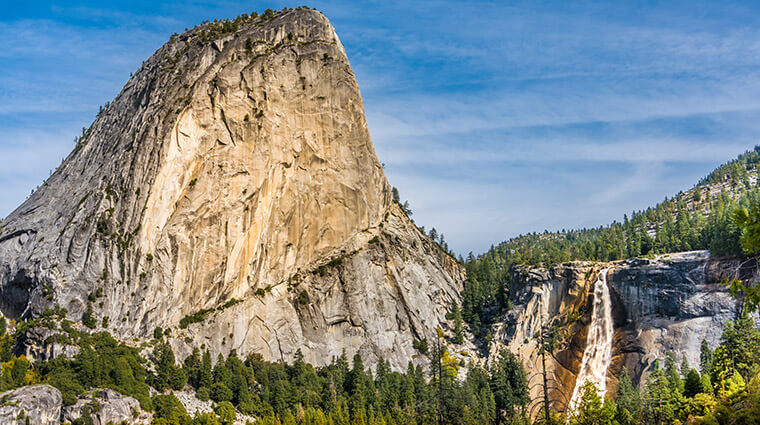 Nevada Fall and Liberty Cap by Damian Riley