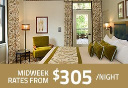 Midweek Rates from $305.00
