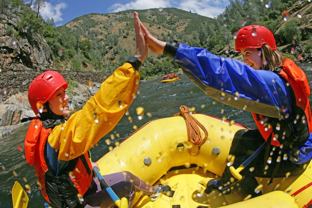 Celebrating adventure and teamwork while whitewater rafting with OARS Rafting
