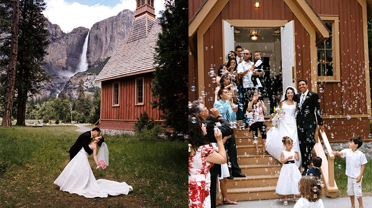 Wedding at Yosemite Chapel