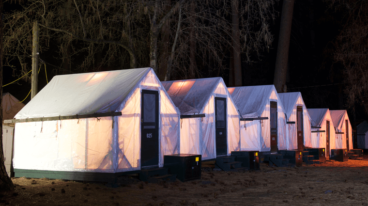 Half Dome Village tent cabins