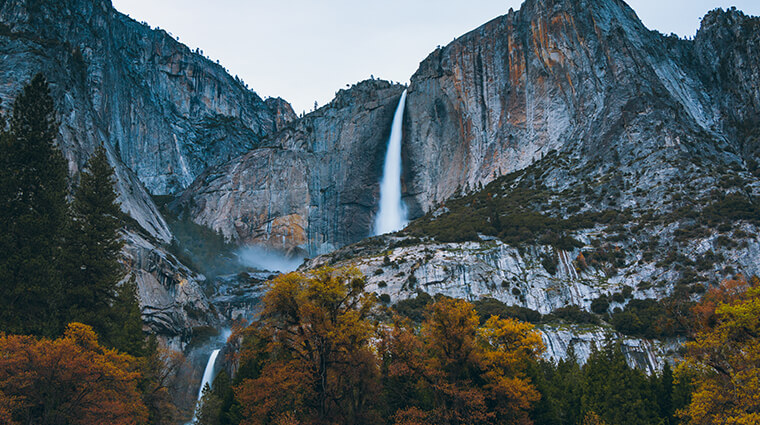 YOsemite Falls Autumn Fall