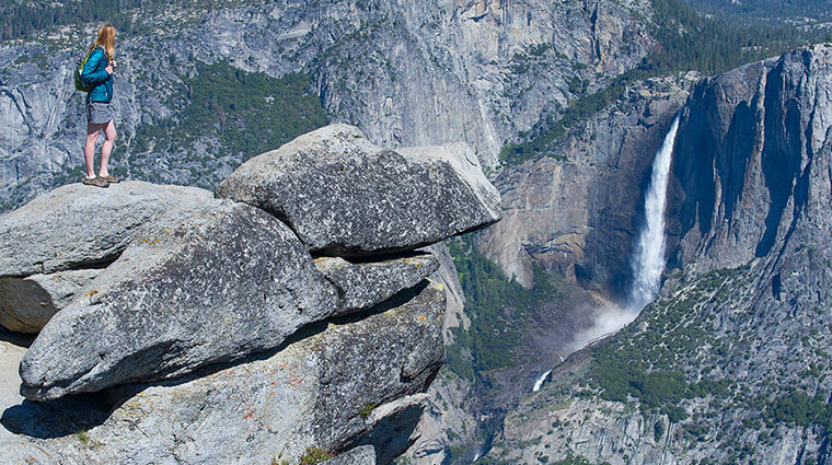 glacier point view of yosemite falls