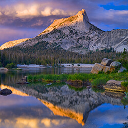Lakes in Yosemite in the Summer