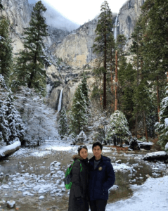 yosemite falls - winter
