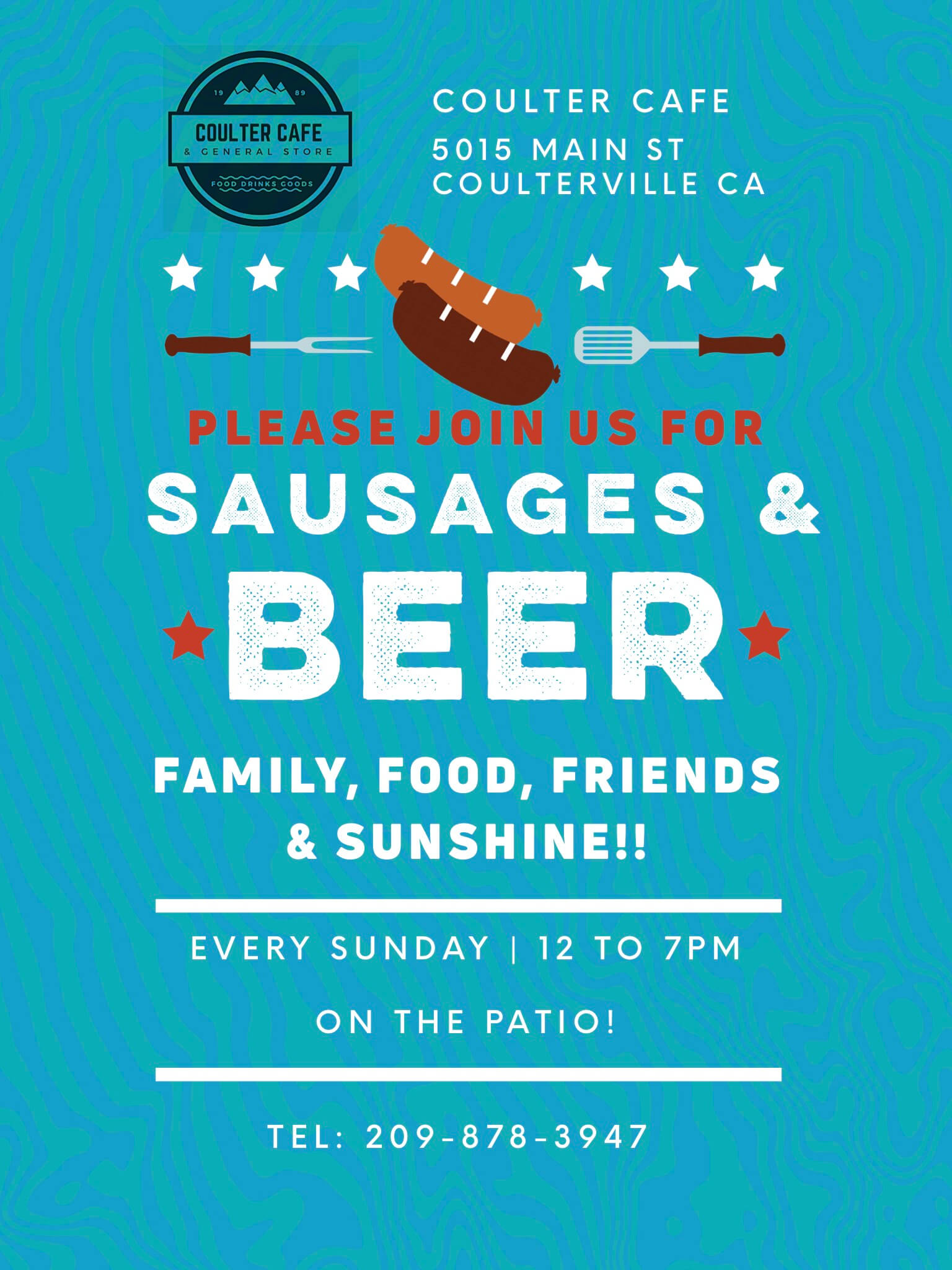Coulterville Sunday Event: Sausages & Beer