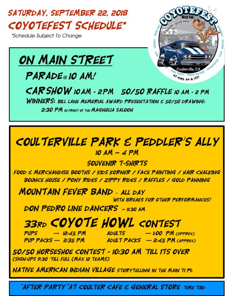 Coyotefest. Coulterville, Gold Rush town, Parade