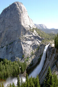 Nevada Fall from the hiking trail