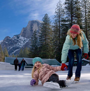 Ice skating, Yosemite, Half Dome Village, Curry Village, Camp Curry