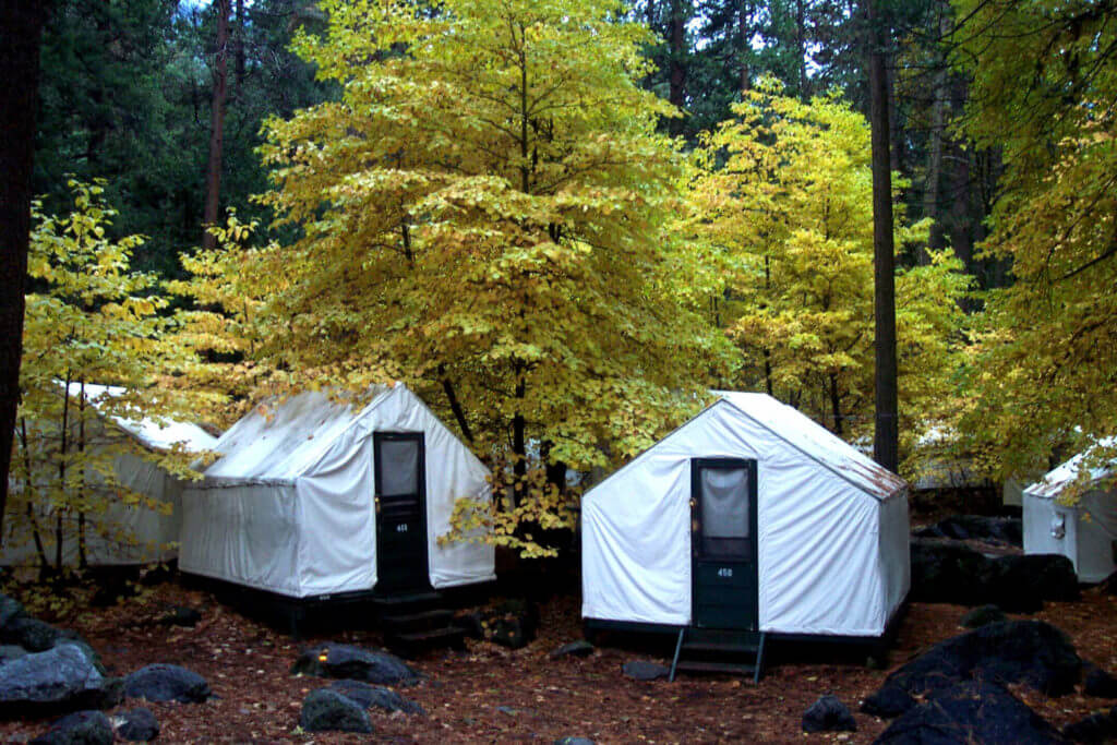Fall, Tent Cabins, Half Dome Village, Curry Village, Camp Curry