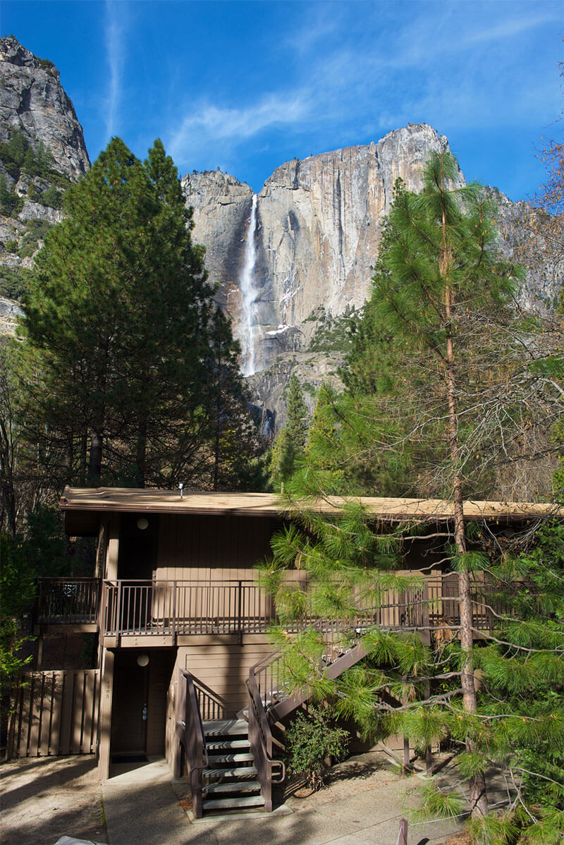 Yosemite Valley Lodge with Yosemite Falls