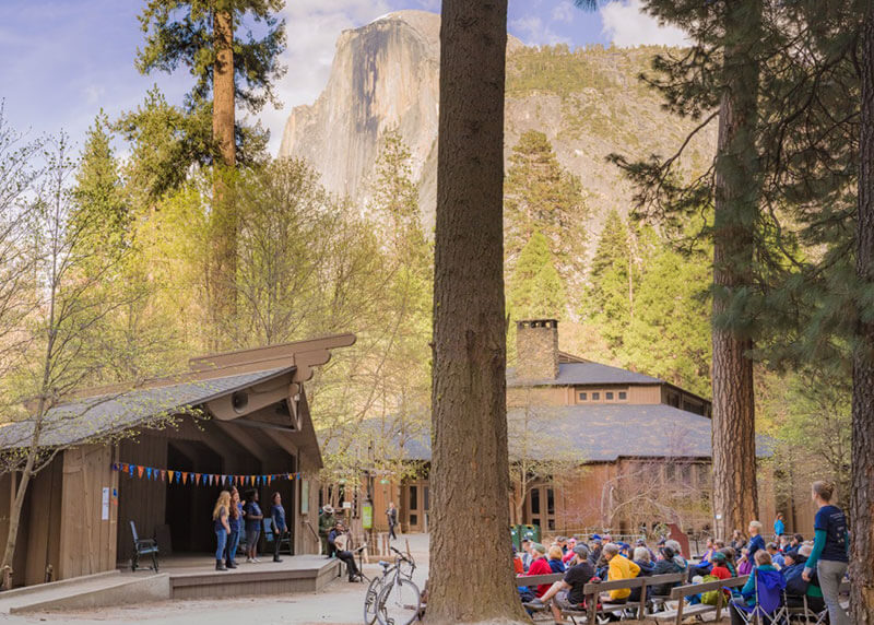 Shakespeare in Yosemite performing in Curry Village