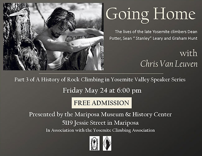 History of Rock Climbing in Yosemite Valley at the Mariposa Museum with Chris Van Leuven