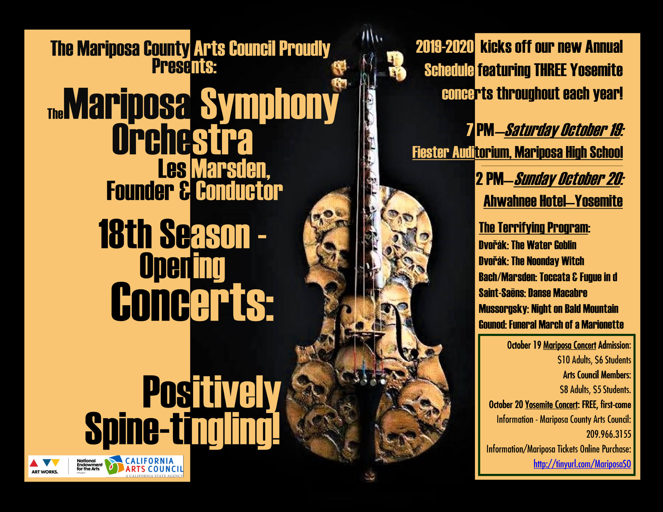 The Mariposa Symphony Orchestra: Season Opening Concerts