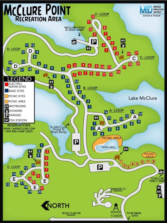 mcclure point campground map