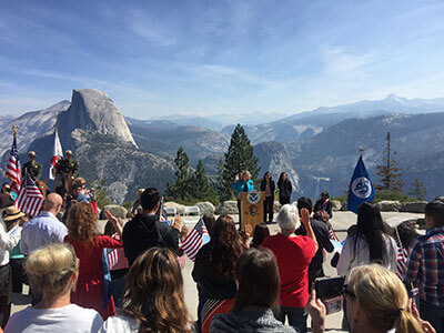 Naturalization ceremony at Glacier Point