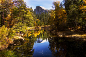 Reflection photography, mirror reflection photography, mirror images photography, Yosemite National Park photos, photos of Yosemite