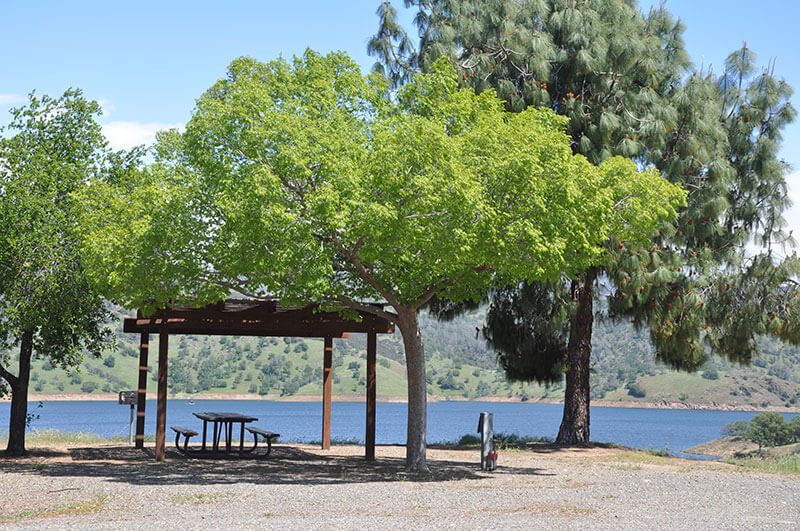 Lakeside campsites at Bagby Campground on Lake McClure
