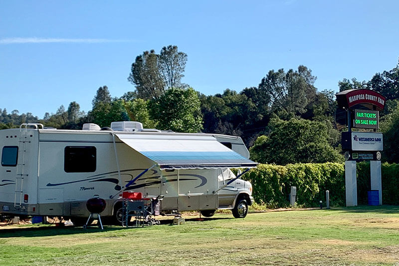 RV camping at the Mariposa County Fairgrounds