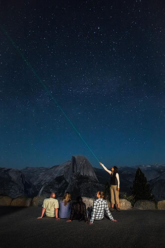 Star gazing at Glacier Point