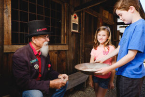Kids learn about gold panning