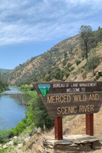 Hiking along the Merced River