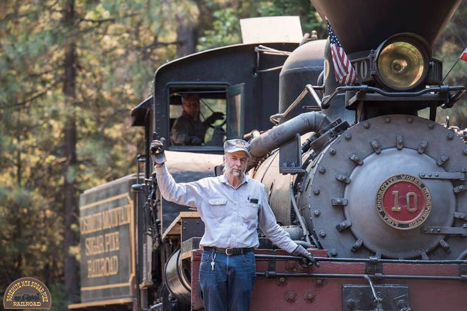 Friendly and knowledgeable staff at the Yosemite Mountain Sugar Pine Railroad
