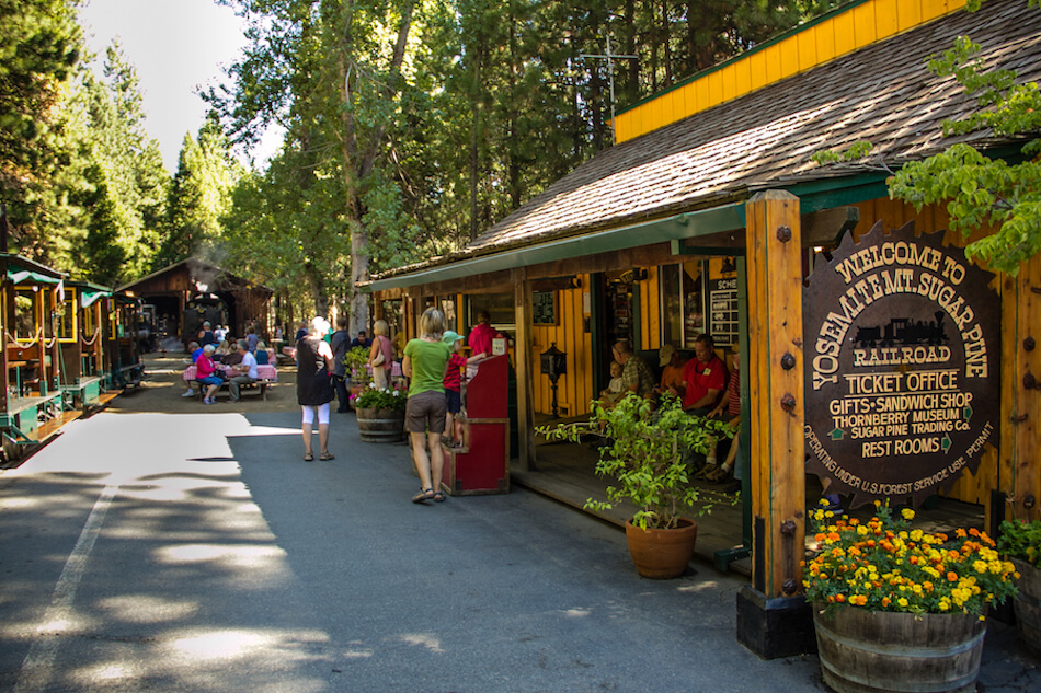 Visit the Thornberry Museum and gift shop at the Yosemite Mountain Sugar Pine Railroad