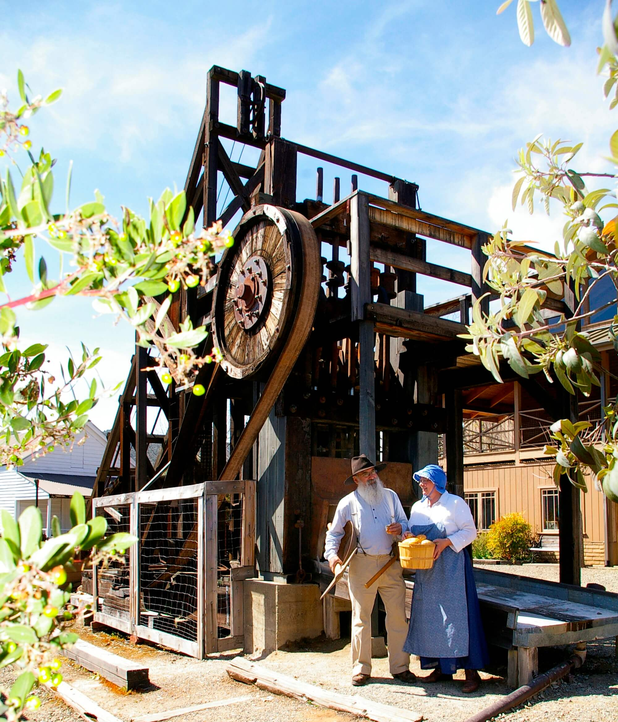 Fully operational stamp mill at the Mariposa Museum and History Center