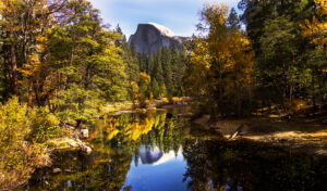 Half Dome & Merced River in Fall