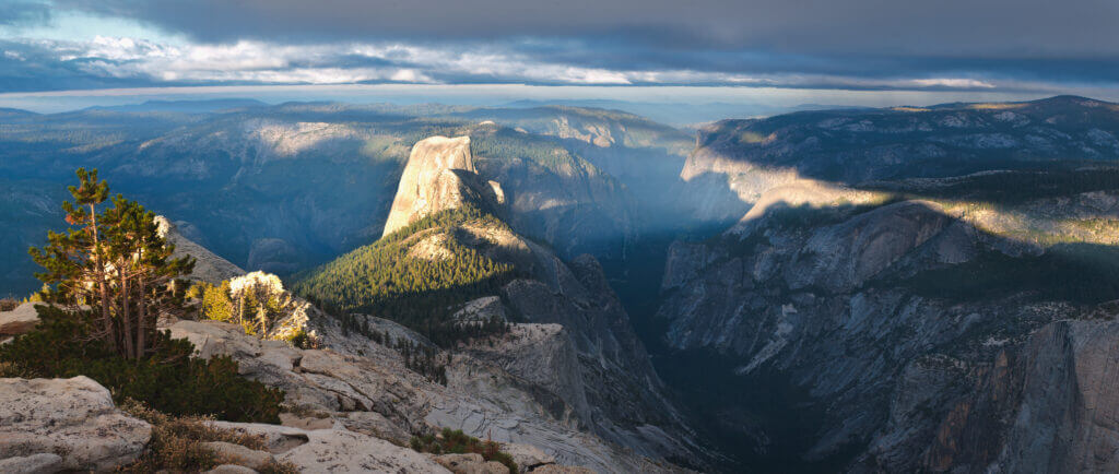 outdoor travel to Cloud's Rest in Yosemite