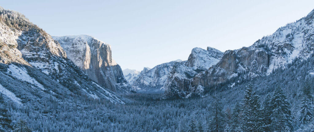 snowshoeing Yosemite Valley