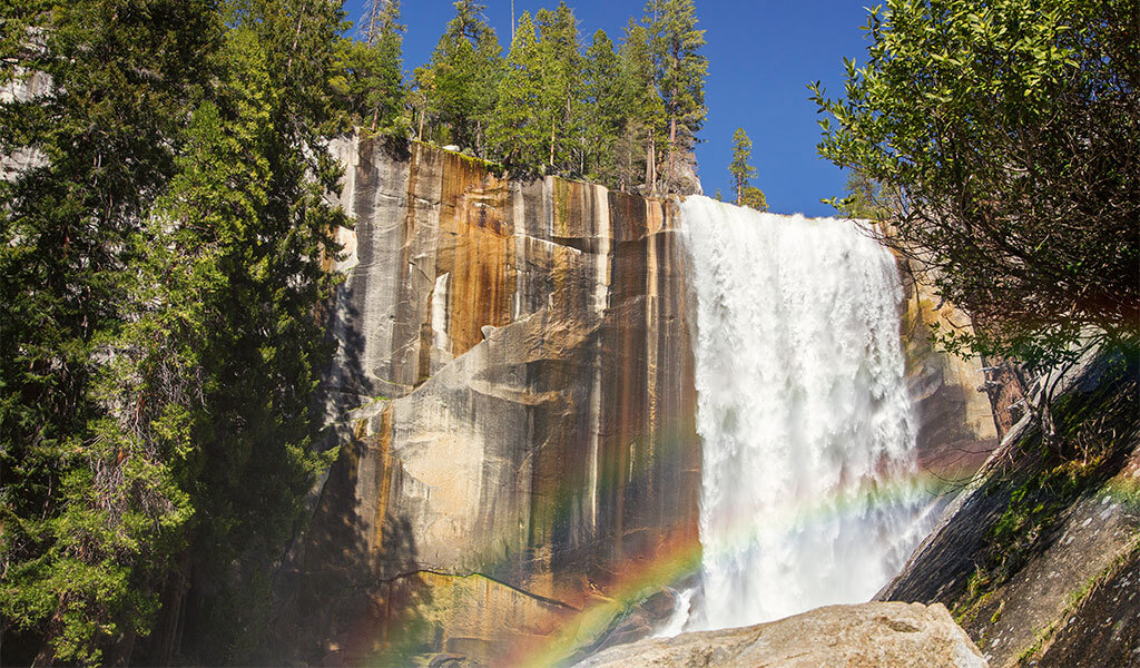 vernal fall from yosemite's mist trail