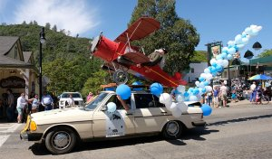 parade float from skydive yosemite