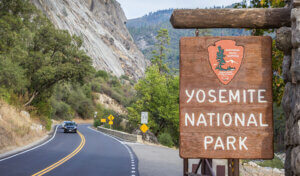 Sign to Yosemite National Park
