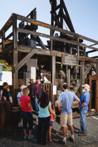 Group at the stamp mill at the Mariposa Museum and History Center