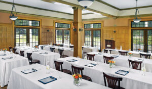 Meeting set up in the Wawona Hotel
